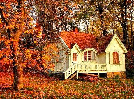 Autumn Cottage, Sweden