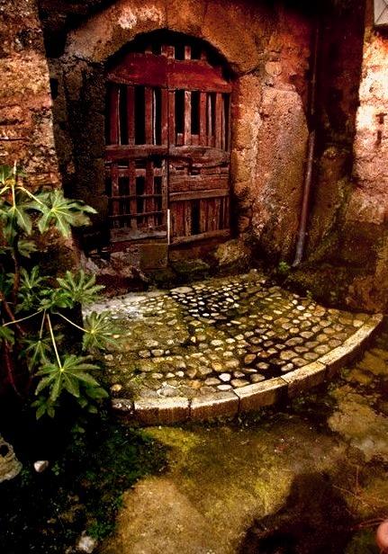 Ancient Garden Door, Calcata, Italy