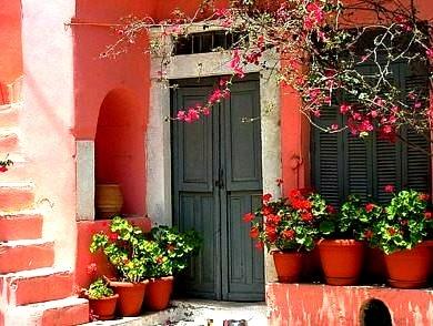 Entryway, Santorini, Greece