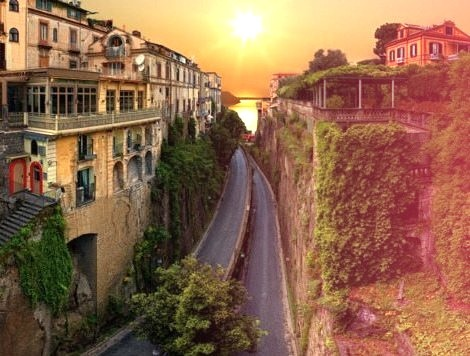 Road to the Sea, Sorrento, Italy