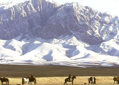 AFGHANISTAN by studc on Flickr.View towards the snow-covered Shadeeyan Mountain in Mazar-i-Sharif in northern Afghanistan.
