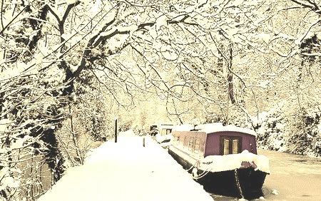 Snowy Day, Oxford, England