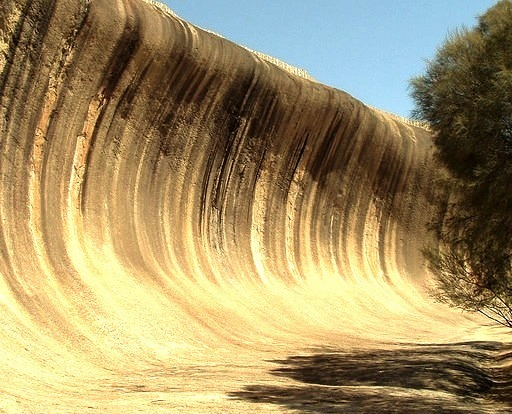 by holtieshouse on Flickr.Wave Rock is a natural rock formation located east of the small town of Hyden in Western Australia.