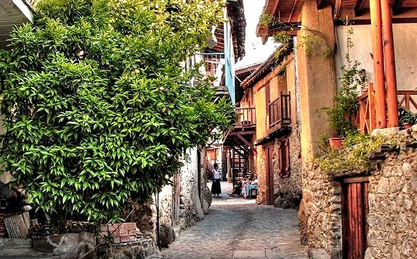 by Mike G. K. on Flickr.Street view in Kakopetria, a village in the Troodos mountains in Cyprus.