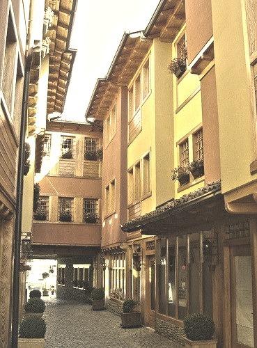 Street view in Gjakova, western Kosovo