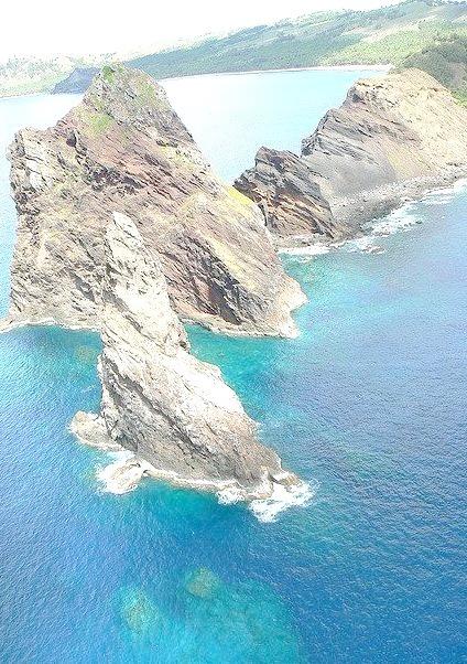Geologic formations on Pagan Island, Guam