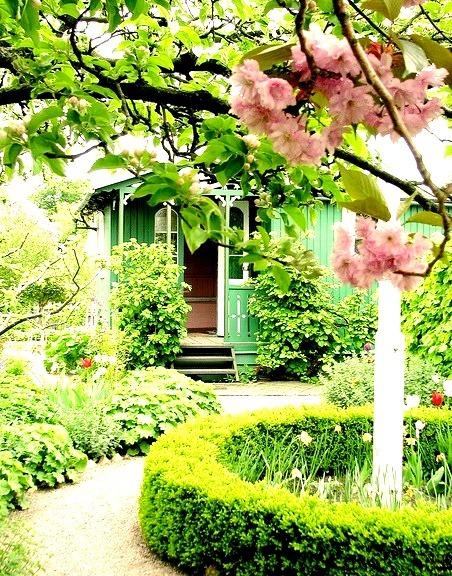 Green cottage in the garden, Landskrona, Sweden
