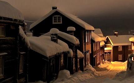Winters Night, Roros, Norway