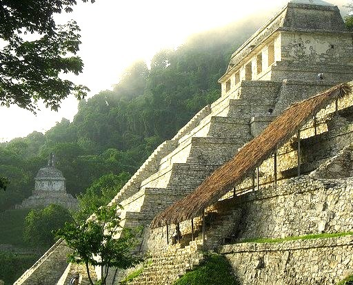 The mayan pyramids of Palenque in Chiapas, Mexico
