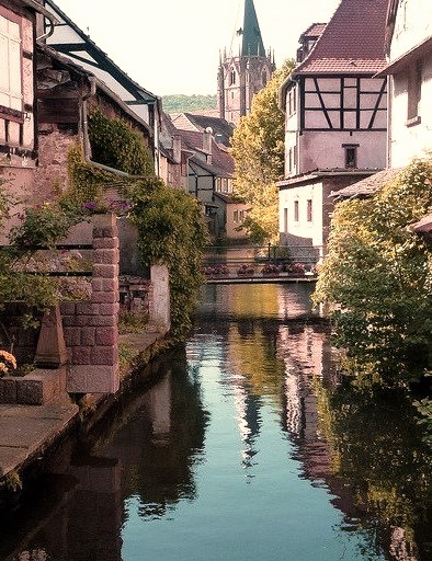 Lovely town of Wissembourg in Alsace, France