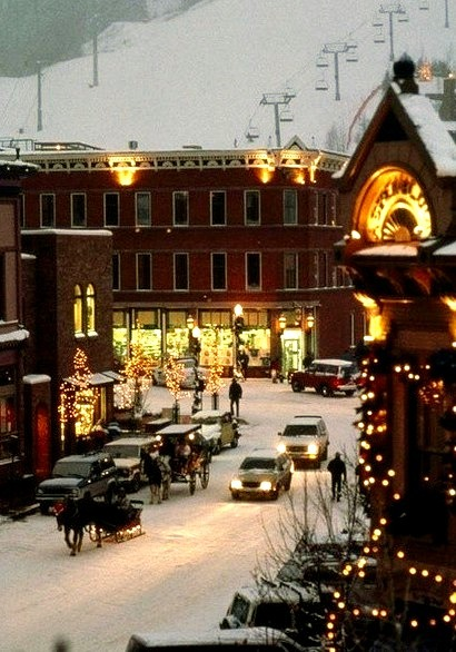 Carriages in the Snow, Leavenworth, Washington