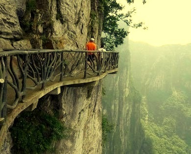 Cliffside Path, Hunan, China