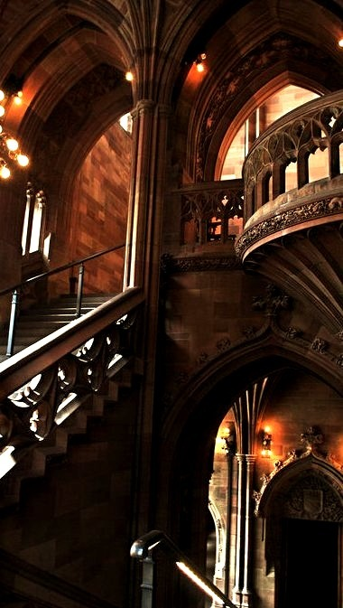 Arches, The John Rylands University Library,  Manchester, England