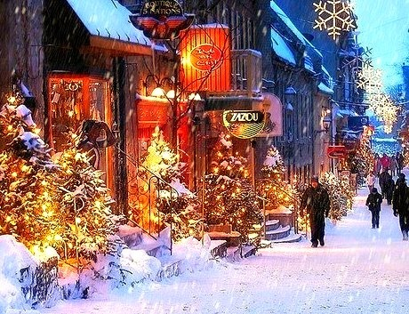Snowy Dusk, Old Town, Quebec City, Canada