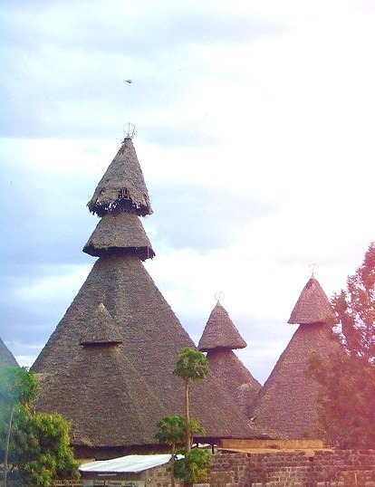 Peculiar looking houses near Mombasa, Kenya