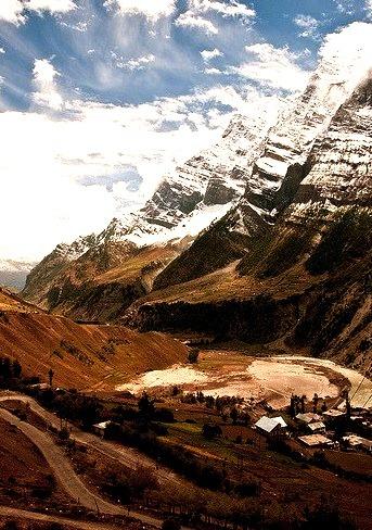 Manali-Leh road in Lahaul Valley, Himachal Pradesh, India