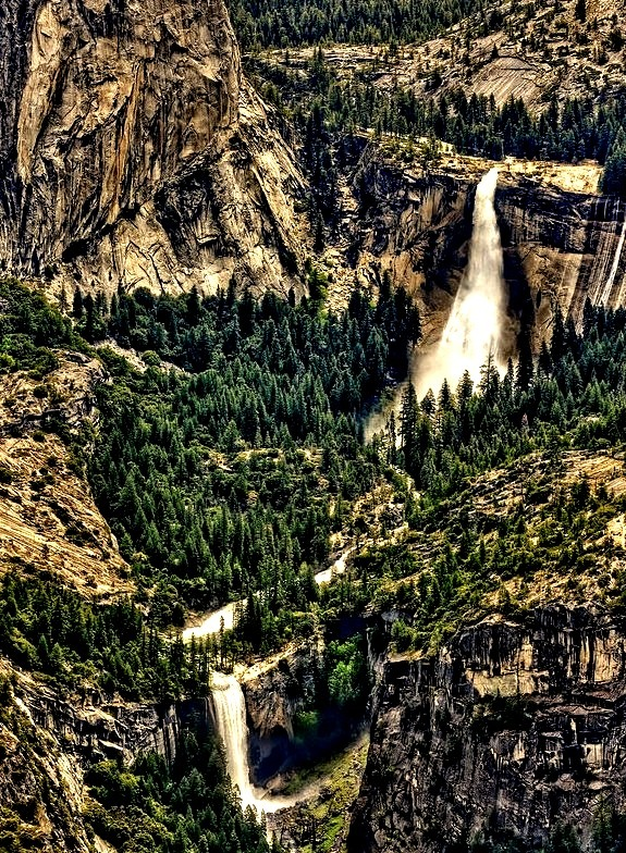 Nevada and Vernal Falls, Yosemite National Park